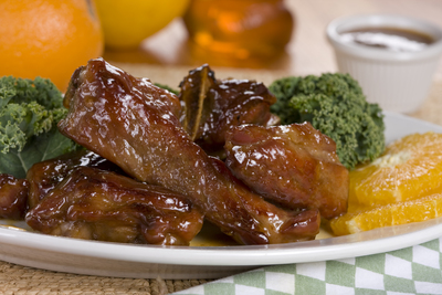 Orange Honey Pork Ribs