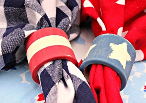 Patriotic DIY Napkin Rings