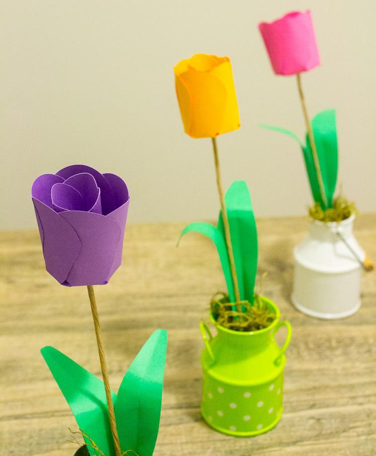 3d paper tulips. Black Bedroom Furniture Sets. Home Design Ideas