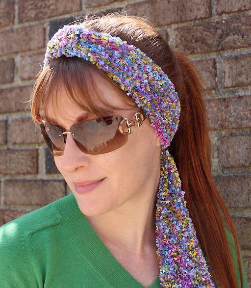Simple Rainbow Headband Knitting Pattern Favecrafts