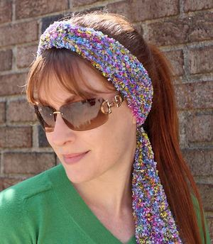 Simple Rainbow Headband Knitting Pattern