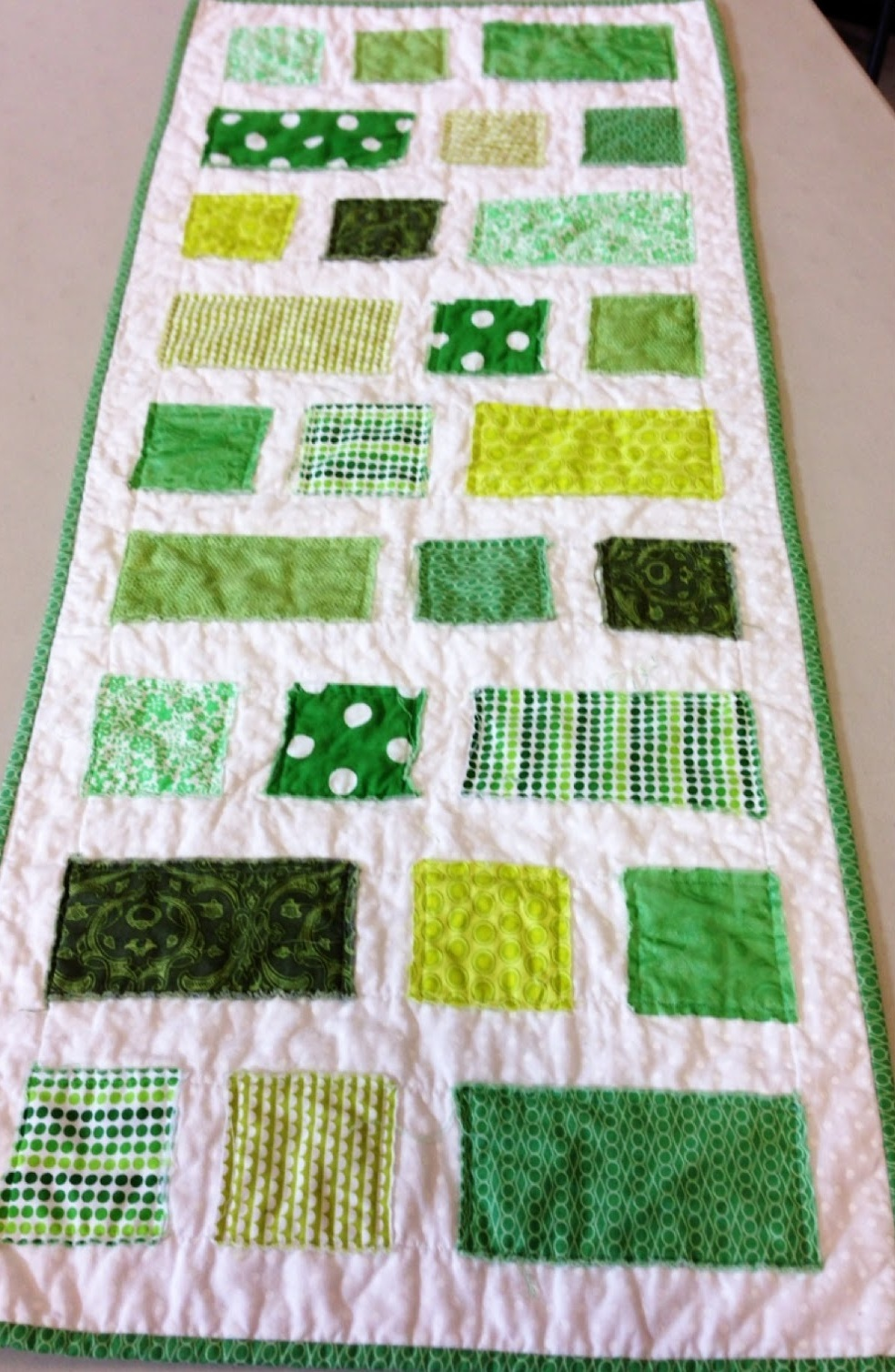 Simple Squares And Rectangles Runner Favequilts Com