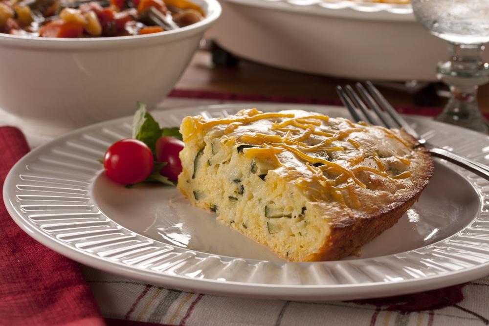 Zucchini Corn Bread Pie   MrFood.com