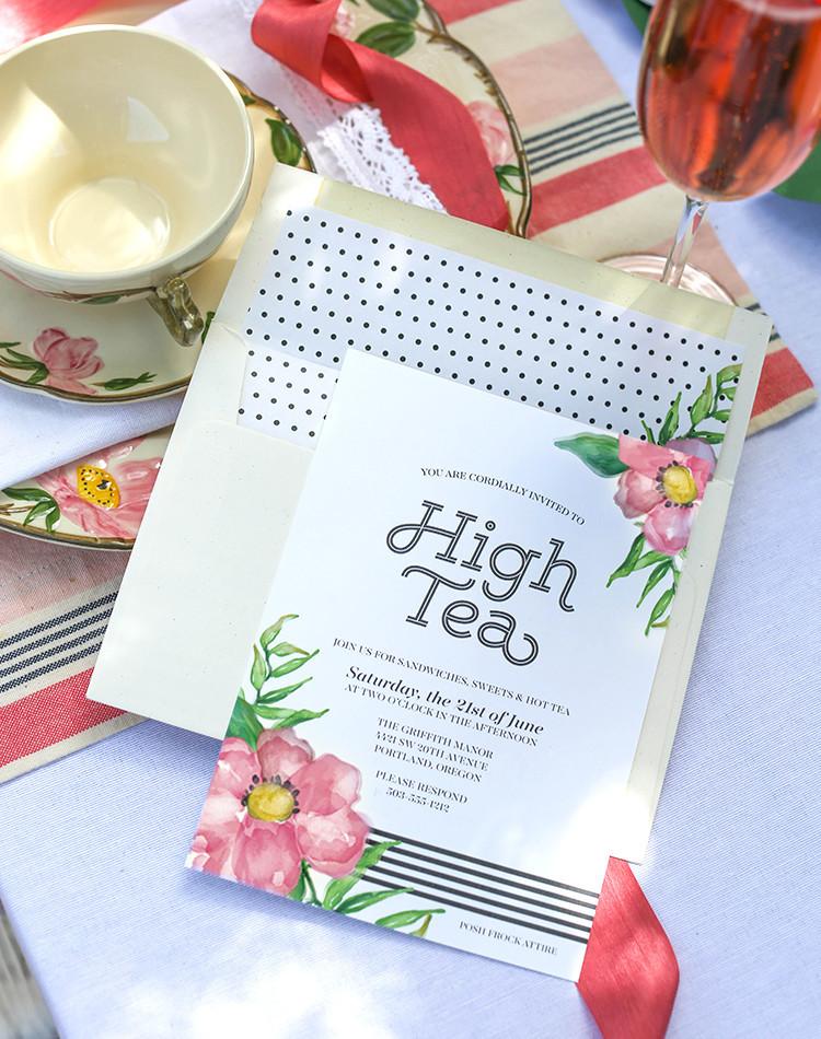 printable high tea party invitations allfreepapercrafts com