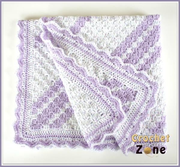 Crochet Patterns For Children s Blankets : Lavender Baby Blanket Crochet Pattern AllFreeCrochet.com
