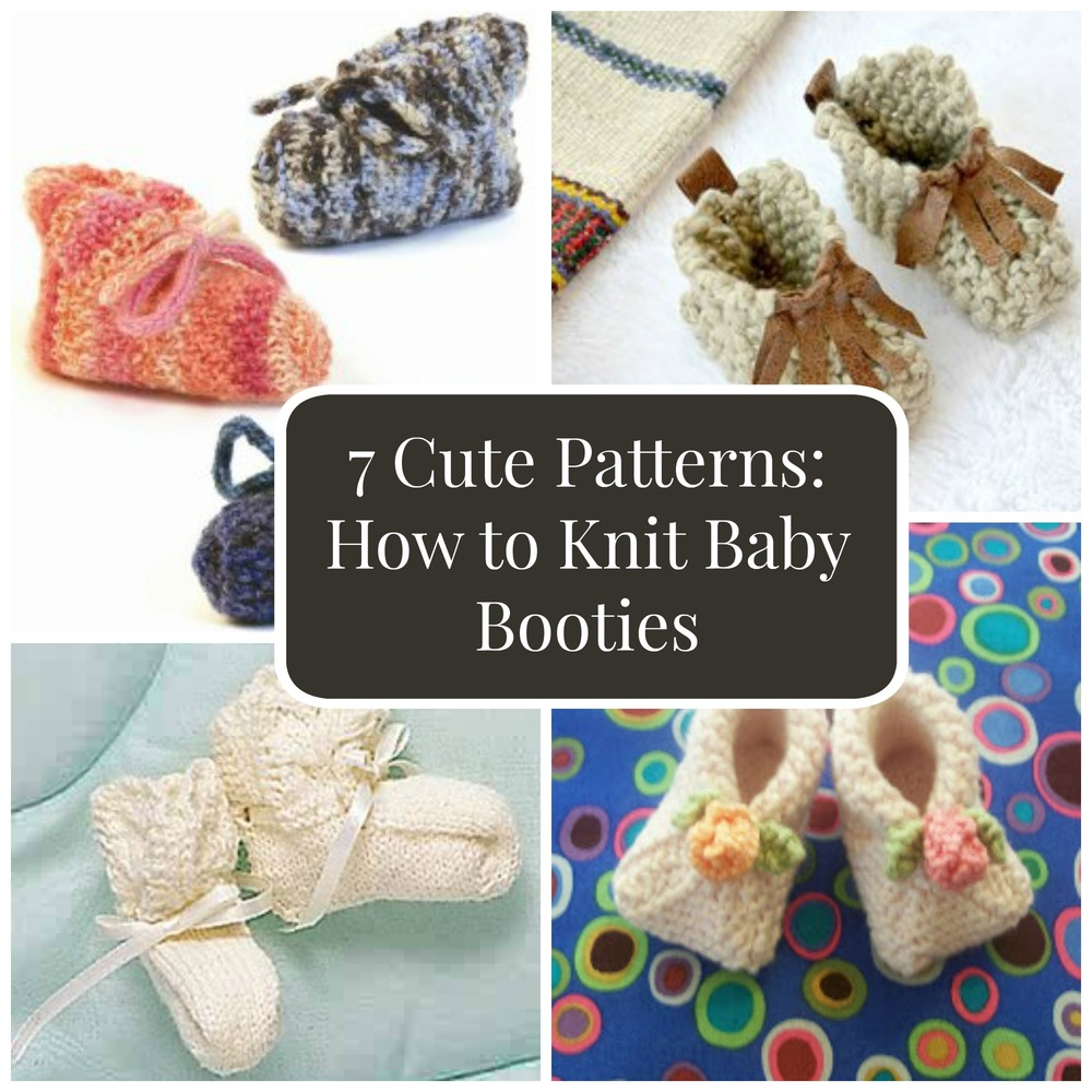 7 Cute Patterns: How to Knit Baby Booties | FaveCrafts.com