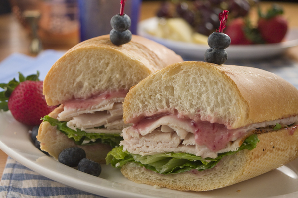 Blueberry Smoked Turkey Baguette
