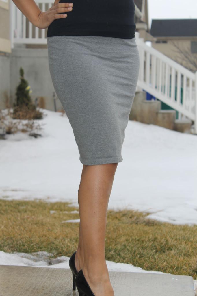 Knit DIY Pencil Skirt | AllFreeSewing.com