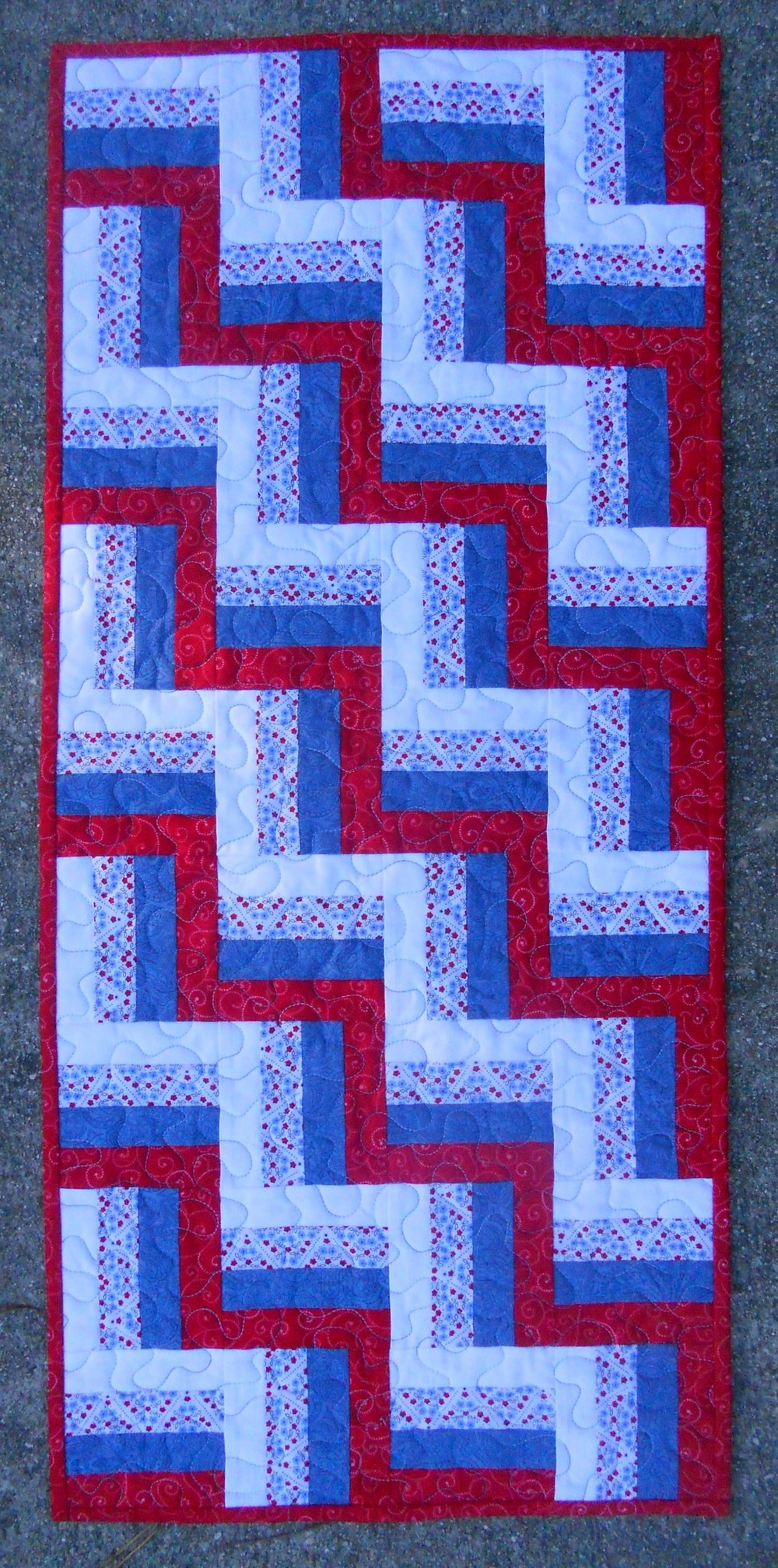 Lickity Split Rail Fence Table Runner Favequilts Com