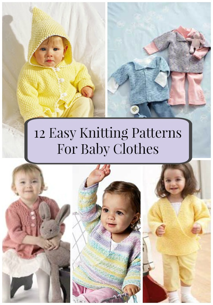 12 Easy Knitting Patterns For Baby Clothes Favecrafts