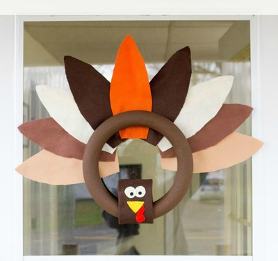 Homemade Turkey Wreath
