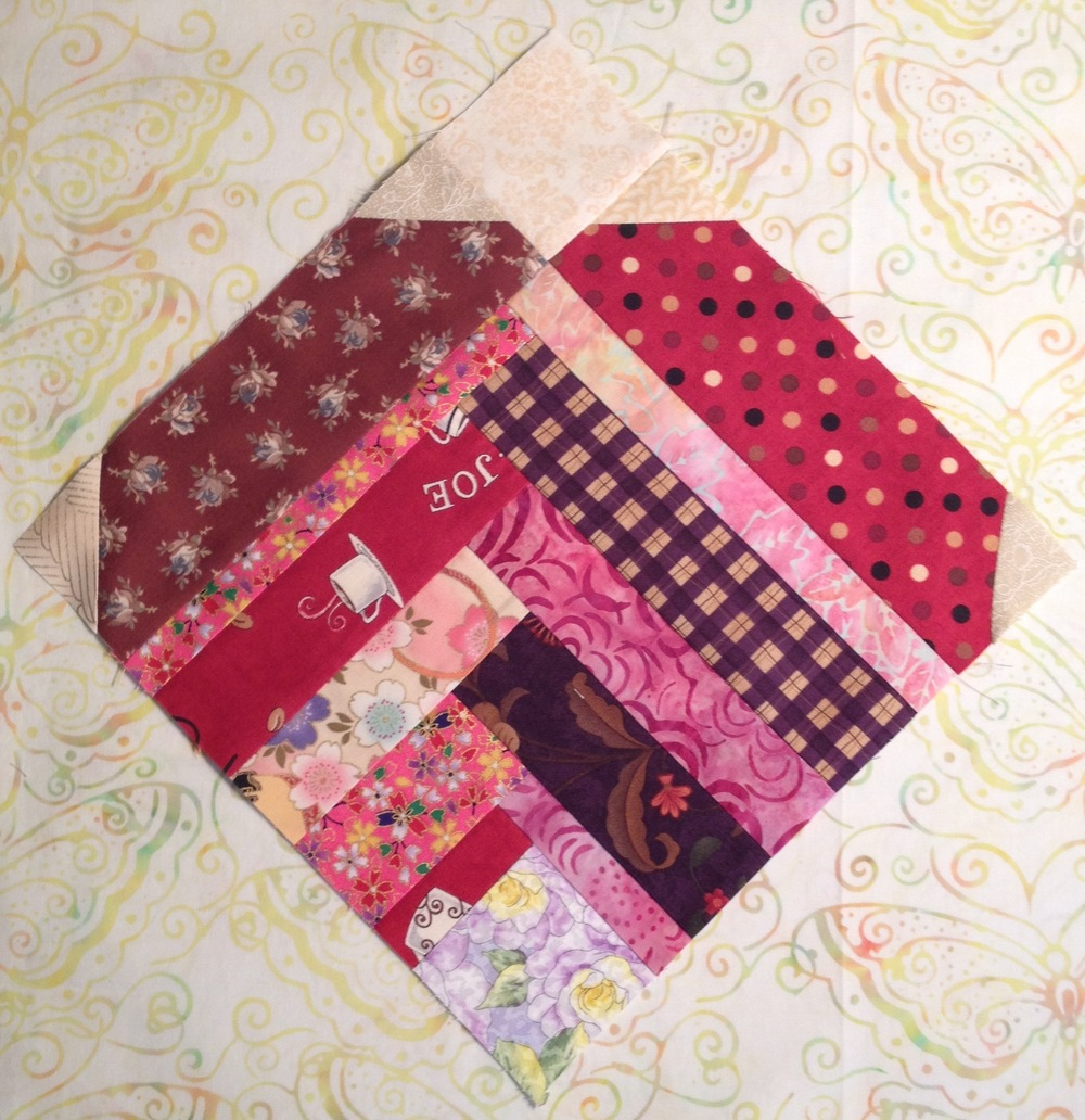 Improvised Heart Quilt Block Favequilts Com