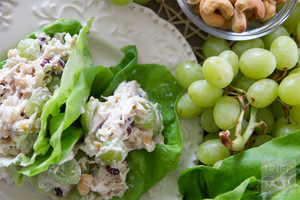 Cashew Chicken Salad Lettuce Wraps