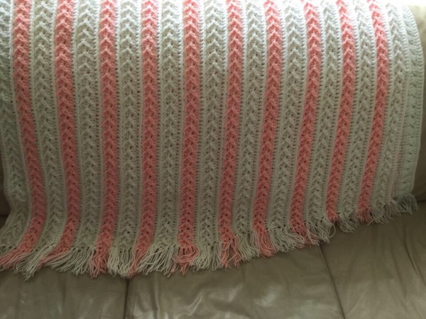 A Blessed Day Arrow Stitch Afghan