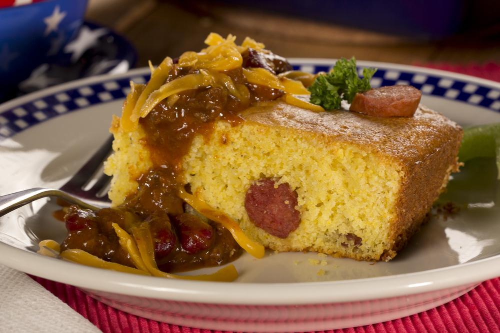 cornbread hot dog casserole