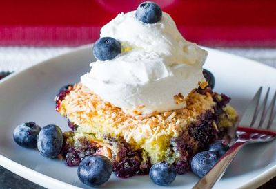 Very Blueberry Dump Cake