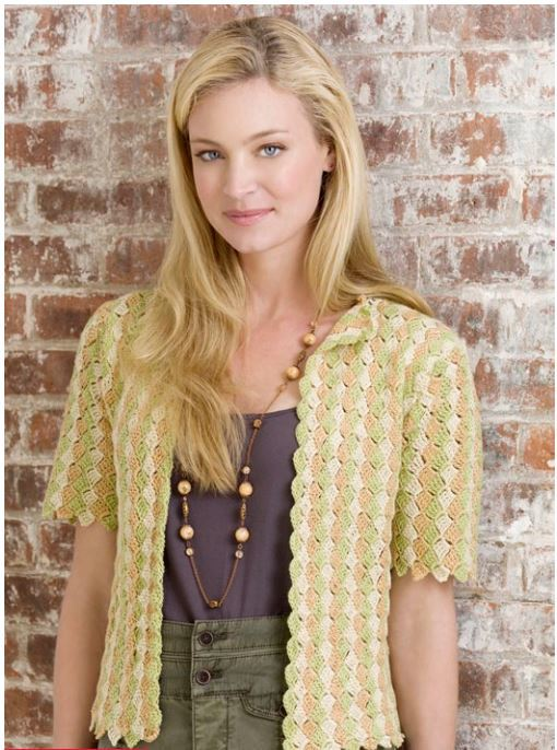 1941 Shell Stitch Crochet Cardigan Pattern Allfreecrochet