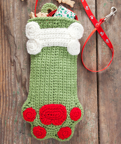 themed crochet christmas stocking patterns to boost everyones spirits decorative doggie stocking
