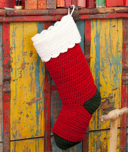 Quick and Easy Christmas Stocking | AllFreeCrochet.com