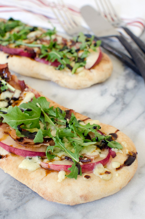 Gorgonzola, Peach, and Bacon Flatbread