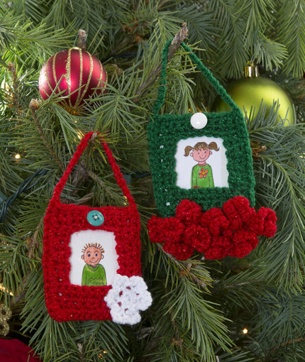 Picture Ornament Frames | AllFreeCrochet.com