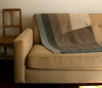 Half log cabin ombre blanket for Log cabin blanket