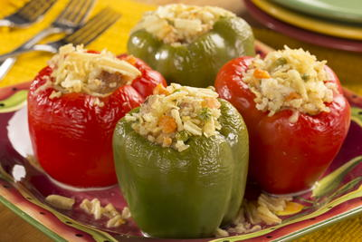 Cheesy Chicken Salad Stuffed Peppers