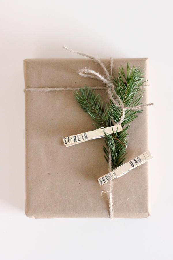 Clothespin DIY Gift Tags