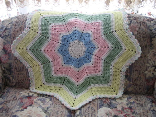 Shooting Star Baby Blanket Crochet Pattern Favecrafts