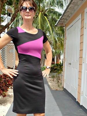 Color-Blocked Work Dress