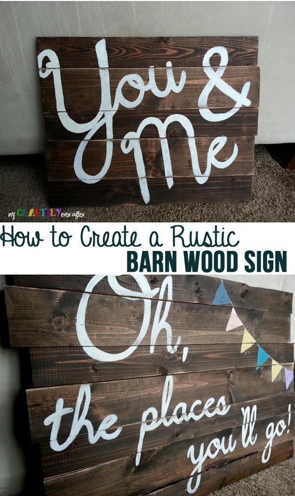 Diy Rustic Barn Wood Sign Favecrafts Com