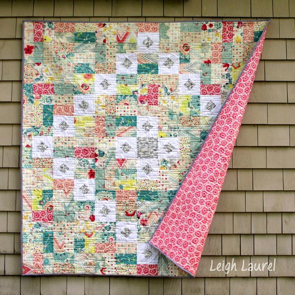 Squares and Rectangles Throw Quilt