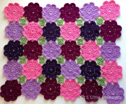 Flower Garden Crochet Blanket
