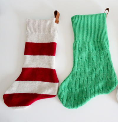 Spiffy Sweater DIY Stockings