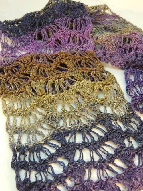 Crochet Stitches Wave : Lace Waves Crochet Scarf AllFreeCrochet.com