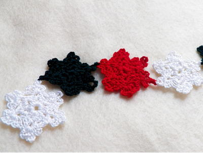 crochet snowflake diy christmas garland - Diy Christmas Garland