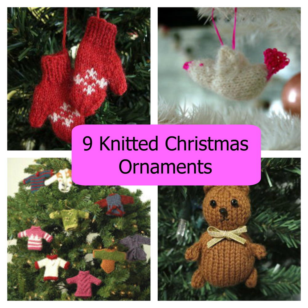 9 Knitted Christmas Ornaments | AllFreeChristmasCrafts.com