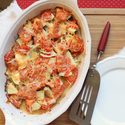 5-Ingredient Zucchini and Tomato Gratin
