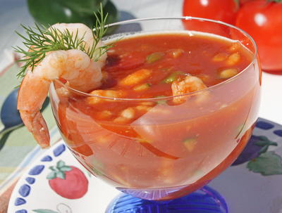 Chilled Shrimp Cocktail Soup