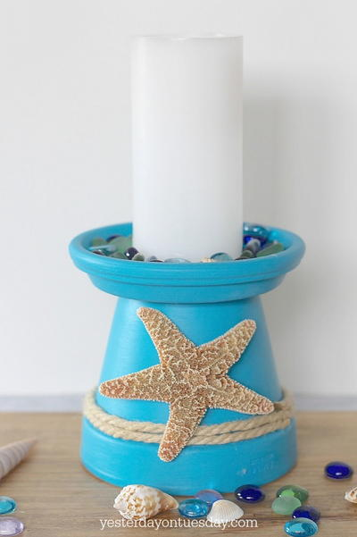 Beachy Starfish DIY Candle Holders