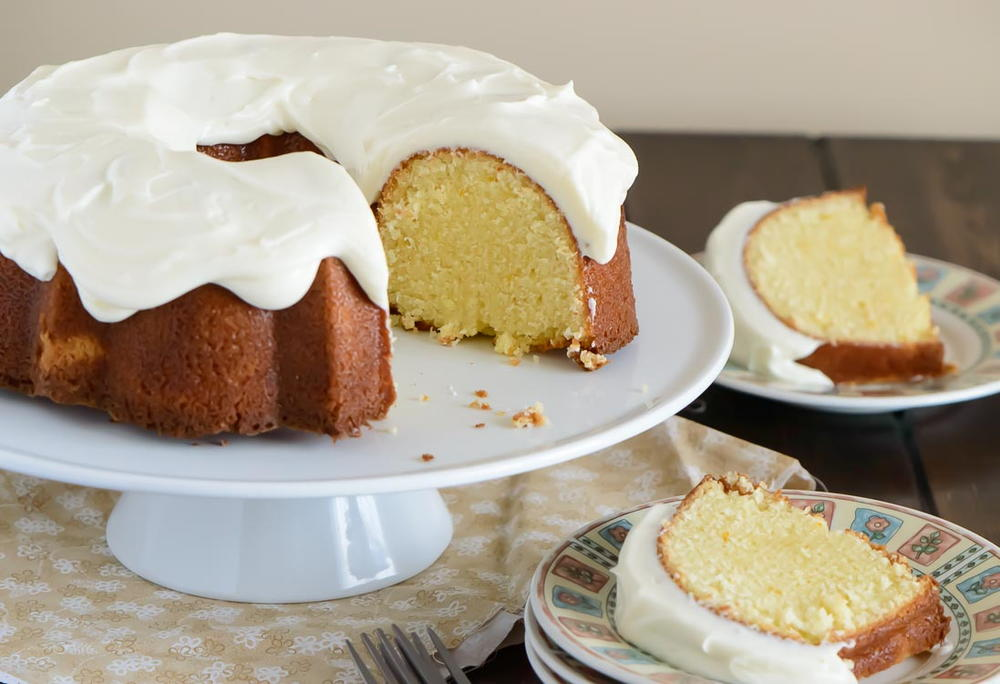 Orange Pound Cake with Cream Cheese Glaze | RecipeLion.com