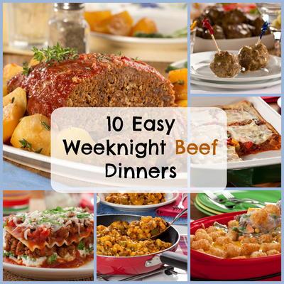 10 Easy Weeknight Beef Dinners Mrfood Com