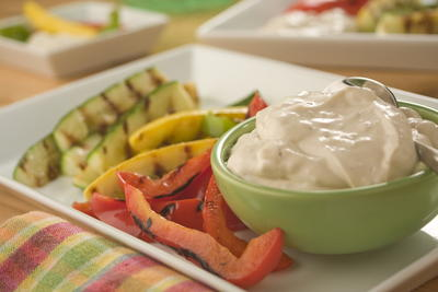 Grilled Veggies with Onion Dip