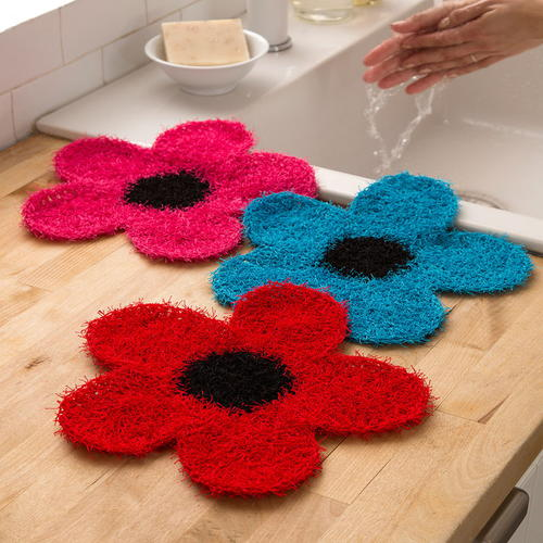 Crochet Flower Dish Scrubber Allfreecrochet