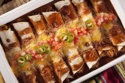 Tex-Mex Chicken Enchiladas