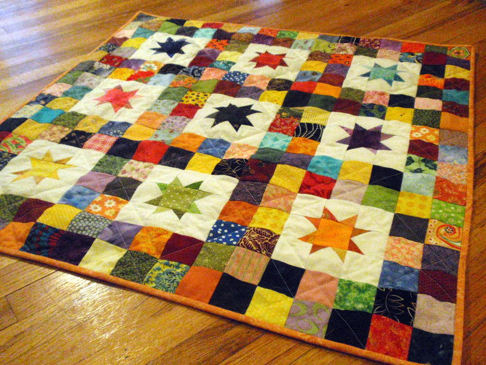 Starry skies baby quilt for How to make a quilt template