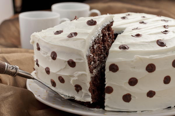 Chocolate Polka Dot Cake