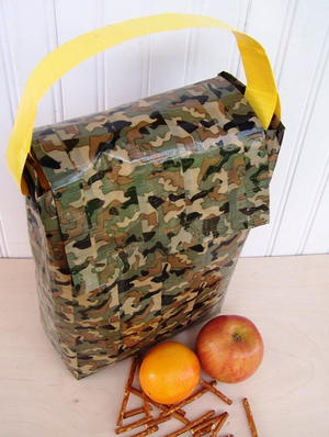 Colorful No Sew Lunch Bag