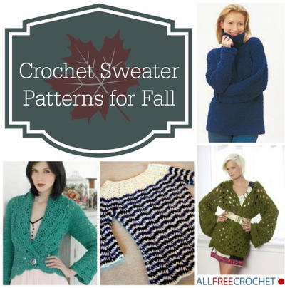 30+ Crochet Sweater Patterns | AllFreeCrochet.com