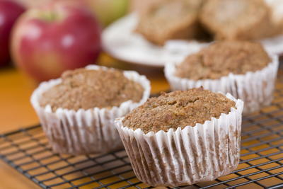Chunky Apple Bran Muffins